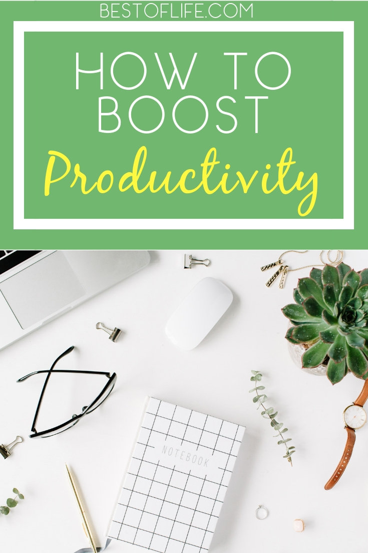It shouldn't take long to boost productivity at work or in your home life; in fact, there is a lot you can do in just two minutes. Productivity Tips | How to be Productive | Tips for Work | Entrepreneur Tips #work #lifestyle