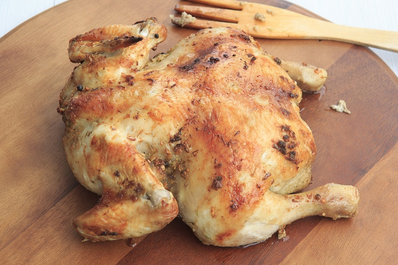 Clean Instant Pot Recipes with Chicken Overhead View of a Cooked Chicken