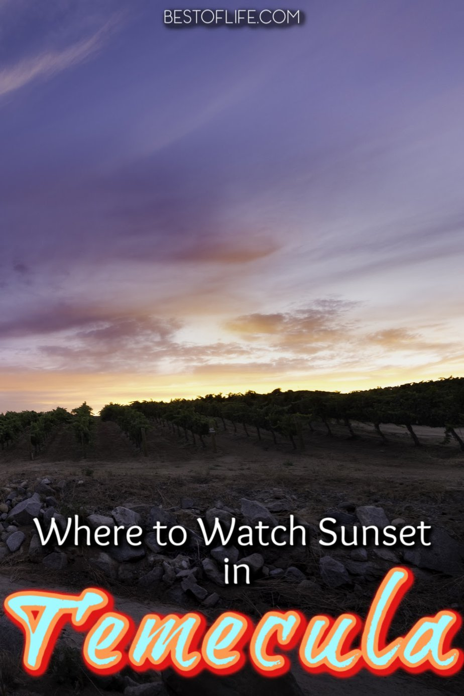 Watching the sunset in Temecula is the perfect way to end any night out in Southern California's very own wine country. Wineries in Temecula | Where to Watch the Sunset in California | Temecula Travel Tips #travel #temecula #wine