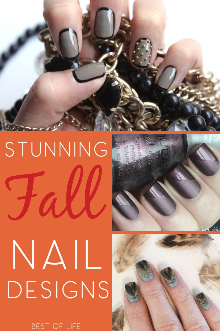 Use fall nail designs to express your love for the season and add a little warmth to your outfit with the colors of the season. Fall Nail Ideas | Fall Beauty Ideas | Fall Fashion Ideas | Painted Nail Designs #nails #fashion