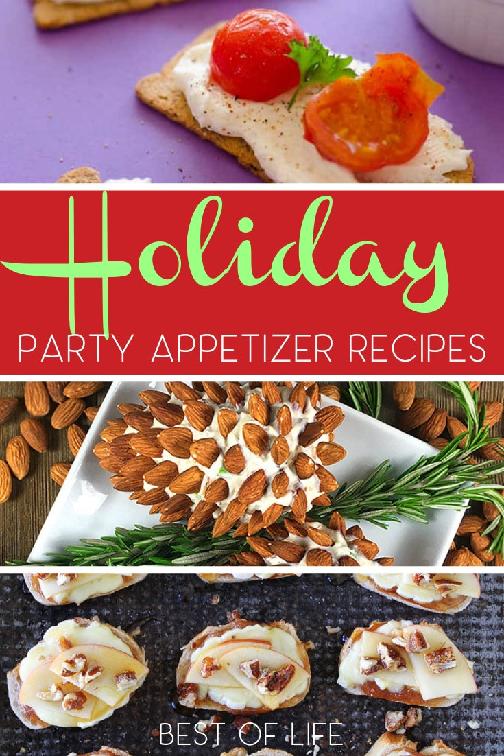 Plan the best holiday party with delicious holiday party food so you can serve snacks, entrees, side dishes, and desserts everyone will love. Holiday Party Ideas | Party Food Ideas | Holiday Recipes | Party Recipes | Party Tips #holidays #recipes via @thebestoflife