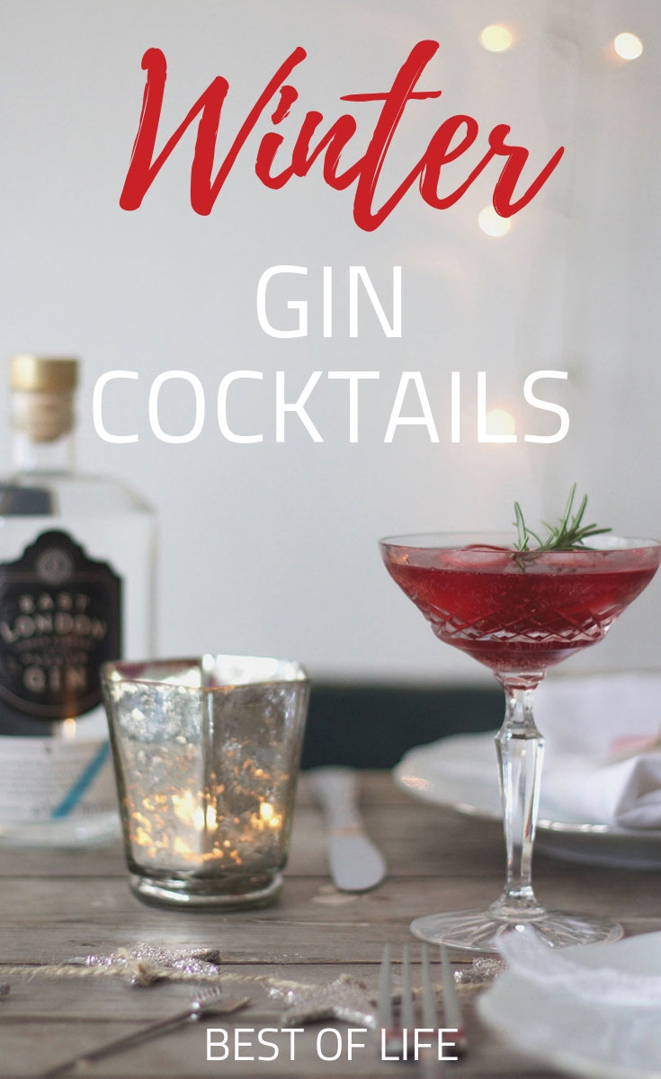 Winter cocktails with gin are cozy and delicious to warm up any winter evening. Gin Cocktails Winter | Gin Cocktails Christmas | Recipes for Gin | Cocktails with Gin | Gin Drinks for Winter #gin #cocktails