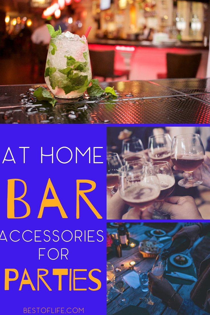 Using the best at home bar accessory ideas you can have the best bar in the city right in your own home and with your own private guest list. Bar Ideas | Bar Décor Ideas | Bar Accessories | DIY At-Home Bar Ideas #homedecor