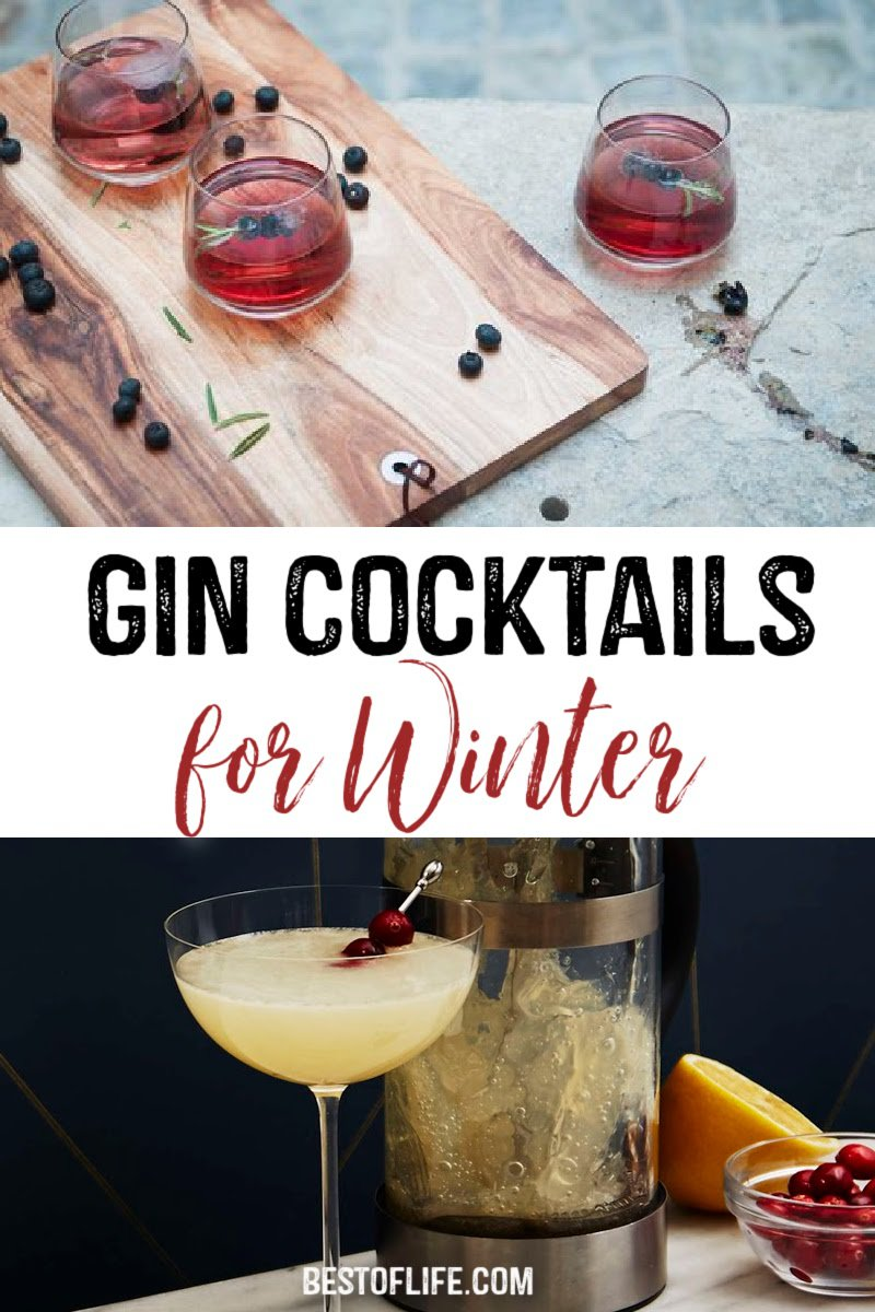 Winter cocktails with gin are cozy and delicious to warm up any winter evening. Gin Cocktails Winter | Gin Cocktails Christmas | Recipes for Gin | Cocktails with Gin | Gin Drinks for Winter #gin #cocktails via @thebestoflife