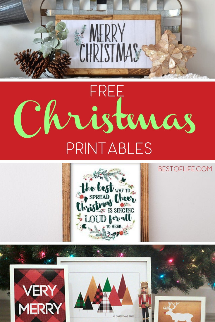 Save money during the holidays with DIY Christmas décor like these fun FREE Christmas printables that will make decorating fun for everyone! Free Christmas Décor Ideas | Free Printables | Christmas Printables | Christmas Décor Ideas | DIY Home Décor | DIY Holiday Decorations #Christmas #printables