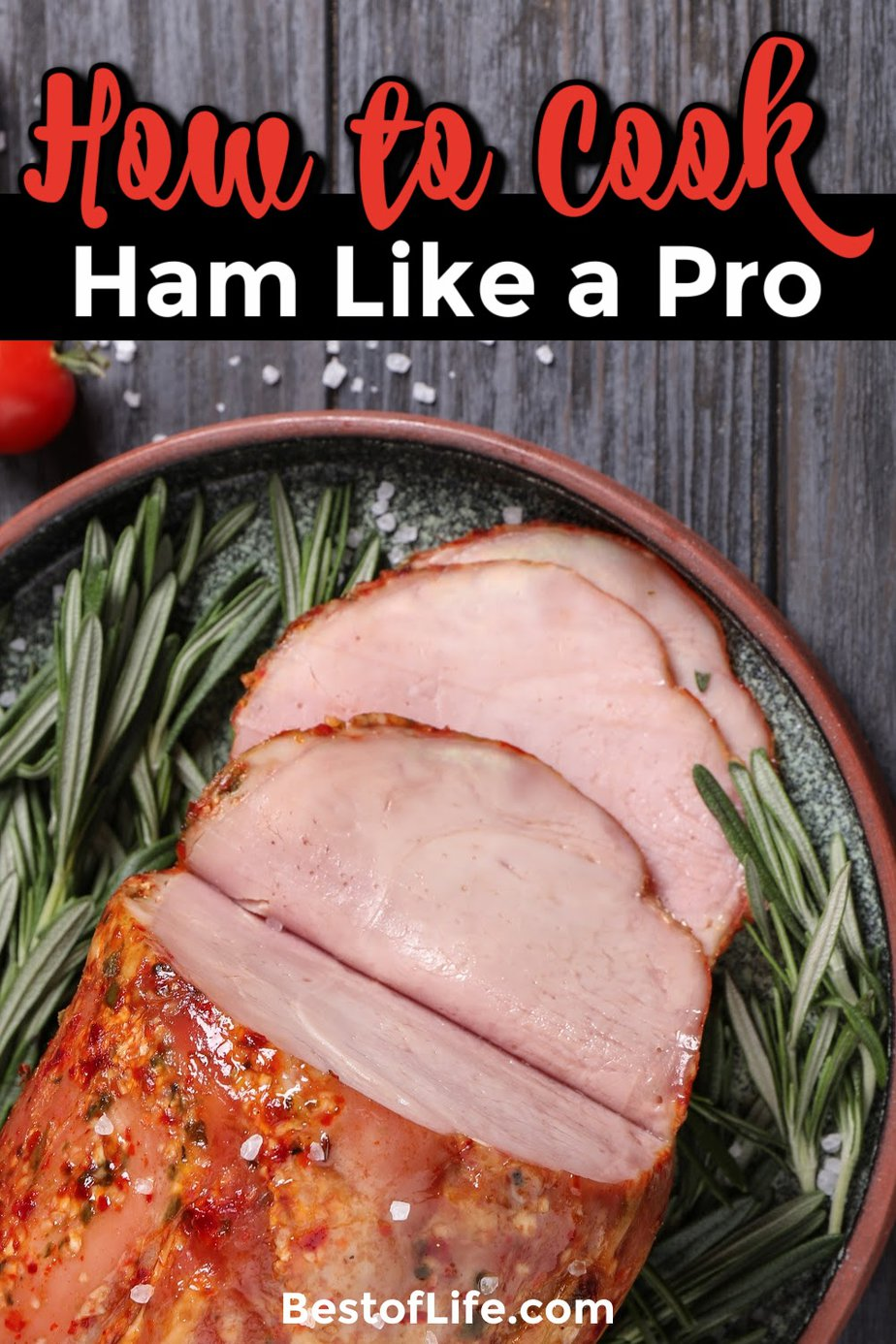 When you know how to cook a ham like a pro, the holiday season is less stressful, more delicious and impresses every guest. Ways to Cook Ham | Holiday Cooking Ideas | Thanksgiving Cooking Tips | Christmas Recipes | Holiday Recipes | Entertaining | Ham Cooking Tips | Ham Recipes | Holiday Ham Ideas | Holiday Meal Recipes | Family Recipes #cookingtips #holidayrecipes via @thebestoflife