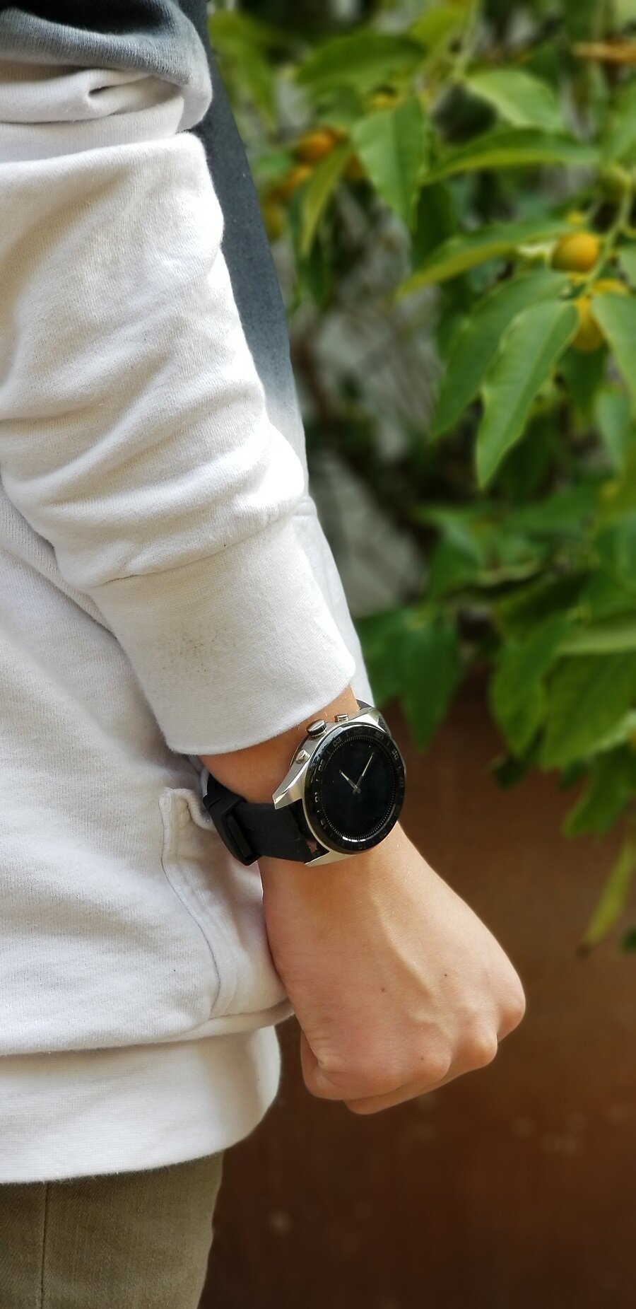 The LG Watch W7 Smartwatch is powered by Wear OS and blends the best of both worlds, with its mechanical hands and 1.2-inch round touchscreen display. LG Smartwatches | Best Tech | LG Hybrid Smartwatch | Wear OS Watches | Best Buy Gift Guide