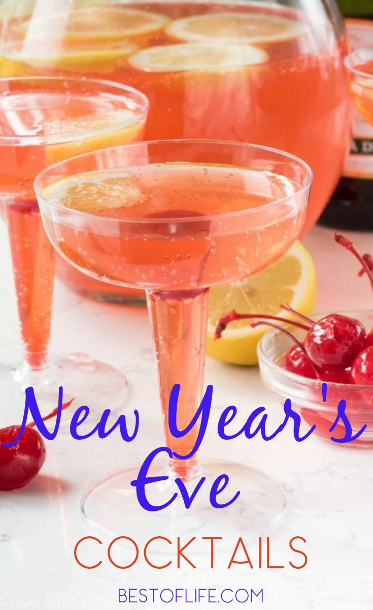 New Year's Eve cocktails help you make New Year's Eve that much more special as you celebrate the year with friends and family and welcome in the New Year. New Year's Eve Party Ideas | Drink Ideas | Party Planning | Cocktail Recipes | Drink Recipes #cocktails #newyearseve