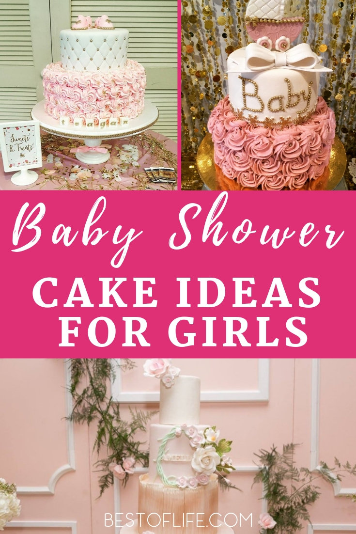 Baby shower cakes for girls are filled with color and fun designs can turn your baby shower theme and party into one that will be remembered! Baby Shower Cake Ideas | Baby Shower Themes | Baby Shower Ideas for Girls | Baby Shower Decorations | Baby Shower Food Ideas #babyshower