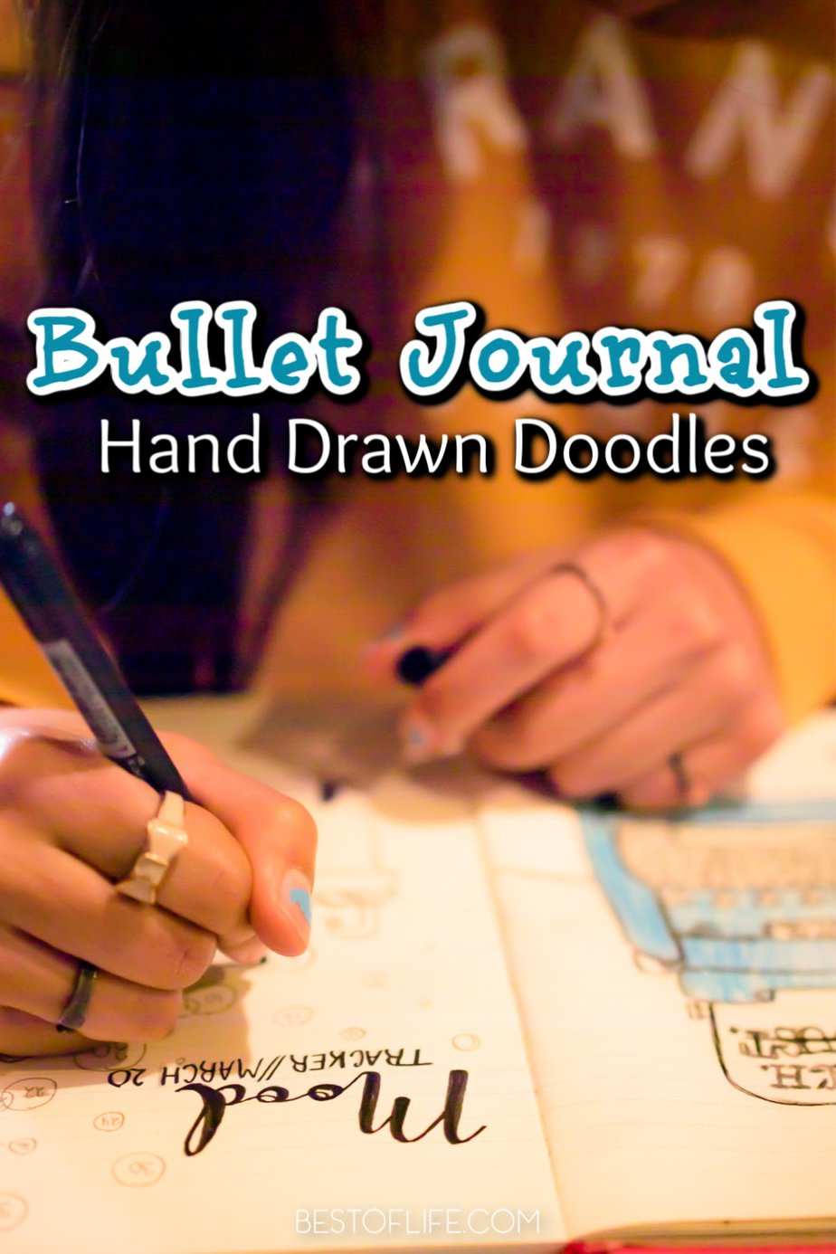 Bullet journal hand drawn doodles are great ways to add personal flair to the book of your life, your day to day, and your goals for the future. Bullet Journal Ideas | Bullet Journal Drawings | Doodles for Bullet Journals | Life Organization Tips #bulletjournal #doodles via @thebestoflife
