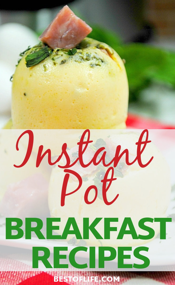 Preparing meals at home saves money, and now you can save time, too, with these fast and easy instant pot breakfast recipes. Instant Pot Recipes   Breakfast Recipes   IP Breakfast Recipes   Easy Breakfast Recipes   Easy Instant Pot Recipes #instantpot #breakfast