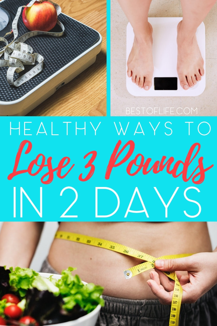Whether for an event, party, or simply a personal weight loss challenge, these tips will help you find ways to lose 3 pounds in 2 days. Weight Loss Diet Plans | How to Lose Weight | Fast Weight Loss Tips | Quick Weight Loss Ideas | Healthy Weight Loss Ideas #weightloss