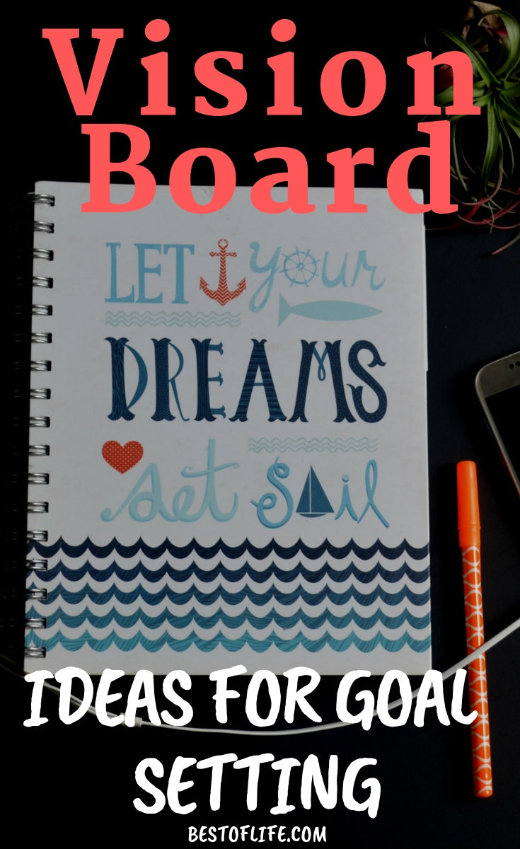 Set your goals and use these creative and inspirational vision board ideas for goal setting to make sure that you live every day to your fullest potential! Vision Board Ideas | Vision Boards for Men | Vision Boards for Women | Goal Setting Ideas | Bullet Journaling | How to Make a Vision Board #visionboard #bulletjournal