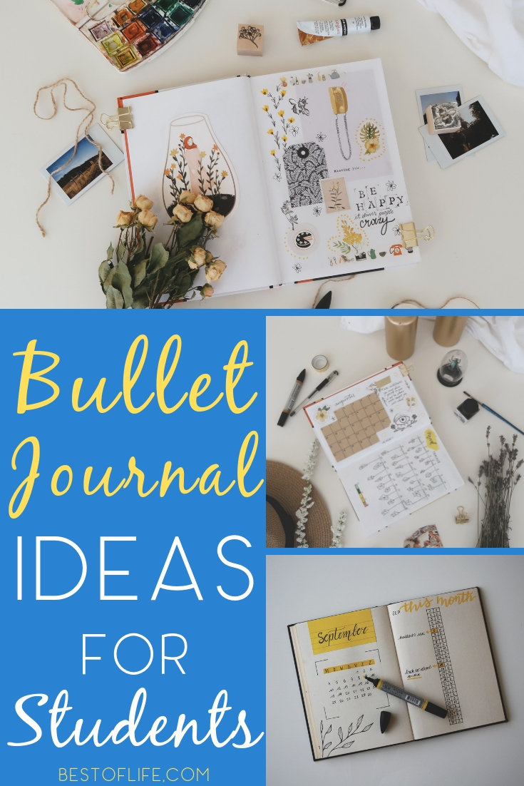 Students can use bullet journal organization for school to help them get where they want to go in the future, wherever that may be. Bullet Journal Ideas | Bullet Journal Layouts | School Organization Ideas | Bullet Journals for Students #bulletjournal via @thebestoflife