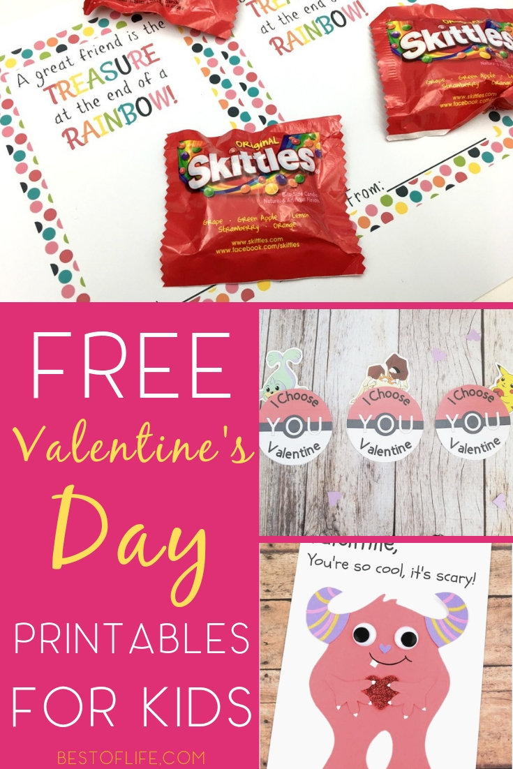 Use Valentine's Day printables for kids to help them show their appreciation for their friends and family in fun and affordable ways. Printable Valentines for Kids | Valentine's Day Cards for Kids | Valentine's Day Crafts for Kids | Valentine's Day for kids #kids #valentinesday via @thebestoflife