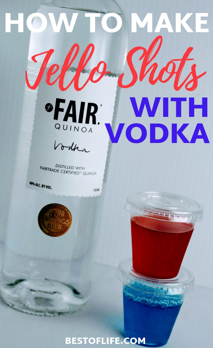 Once you know how to make jello shots with vodka, you can use that knowledge to add some fun to any party you throw throughout the year. Change the colors for the type of party and let the fun begin! Jello Shots Recipe |Party Recipes | Recipes for a Crowd | Adult Recipes | Bachelorette Party Ideas | Bachelor Party Ideas #party #shots