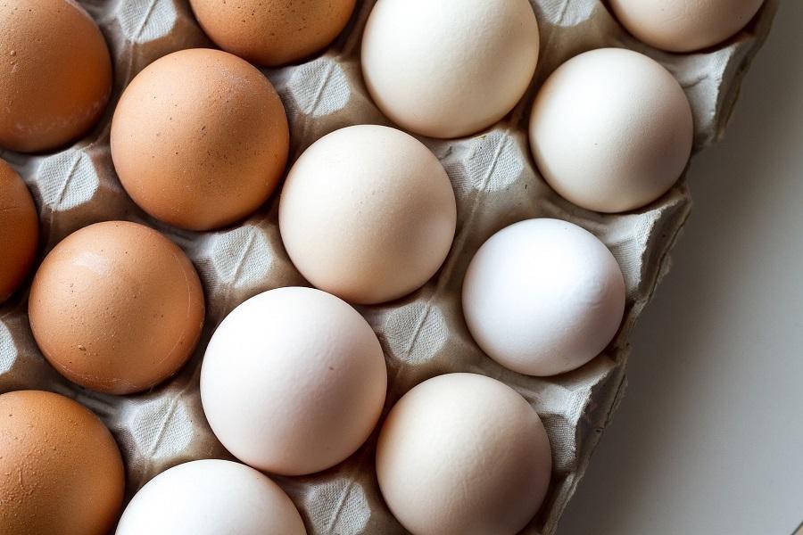 Instant Pot Egg Recipes Overhead View of a Carton of Eggs
