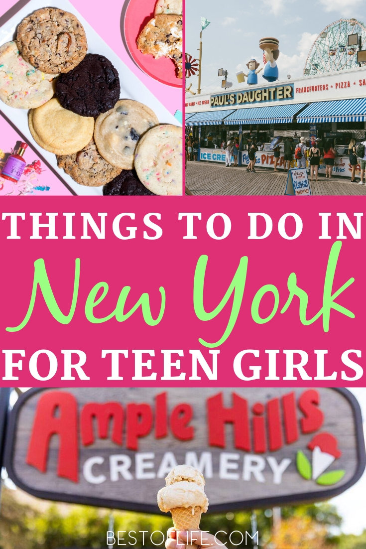 Make your trip to New York one to remember with these things to do with a teenage girl in New York. New York Travel Ideas | Things to do with Teens | Things to do in New York | New York Activities | New York Travel Tips #newyork #travel