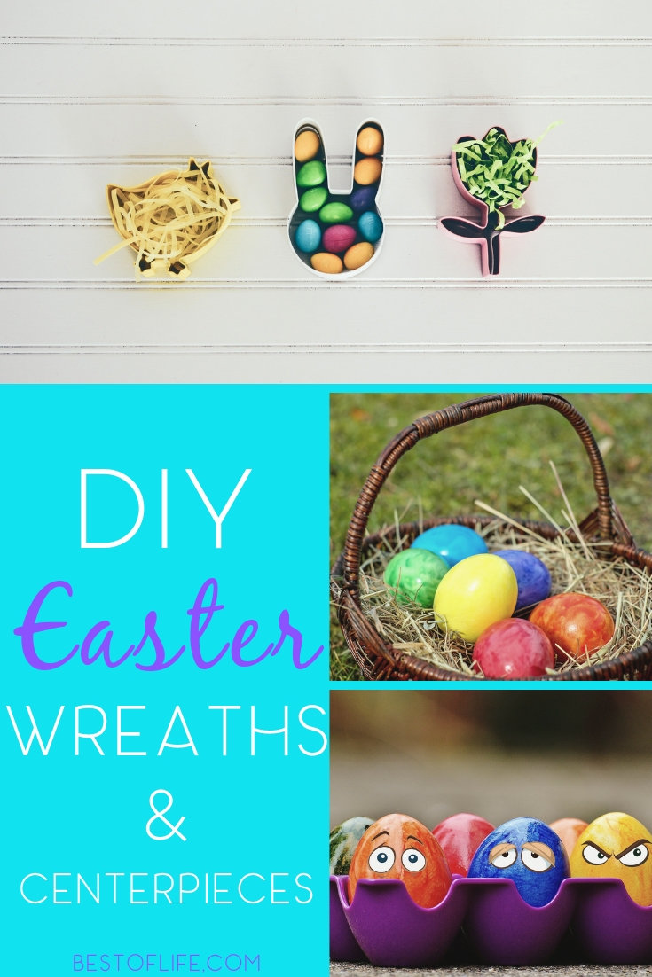 You can DIY your way through the spring holiday with some mesh Easter wreaths and centerpieces that will add color to your home. Easter Ideas | Easter Decor Ideas | DIY Easter Decorations | DIY Easter Centerpieces | DIY Home Décor #DIY #easter