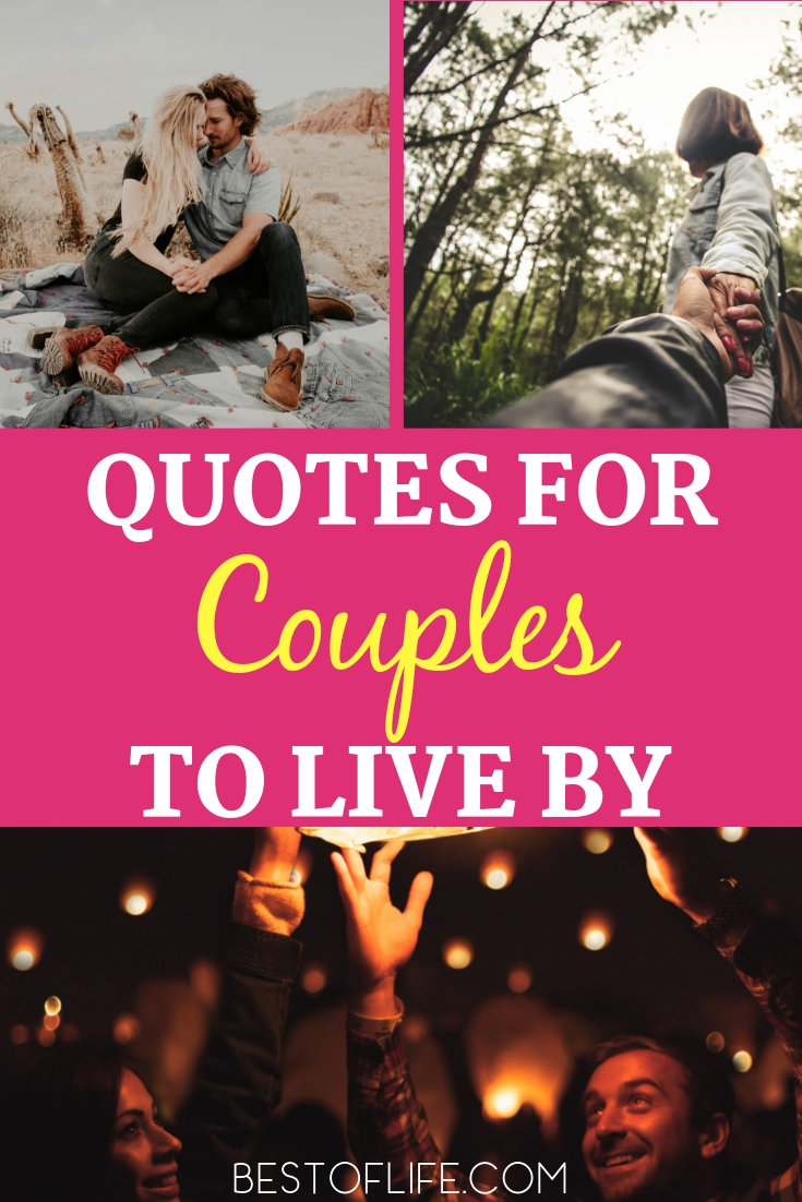 Keep your relationship strong and happy with some positive quotes to live by for couples. They are great daily inspiration to keep you focused on what matters. Love Quotes | Quotes About Love | Quotes for Relationships | Quotes About Relationships | Inspiring Quotes | Motivational Quotes #love #quotes