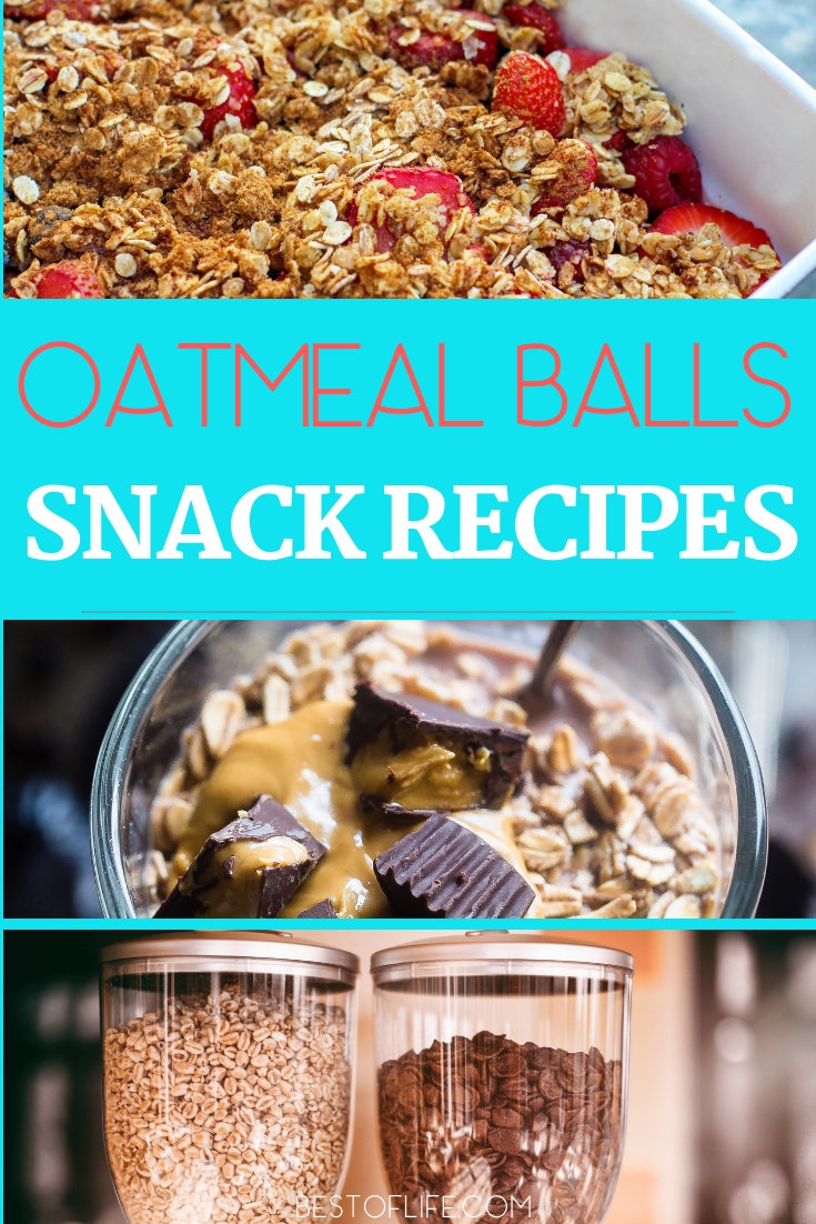 Enjoy a healthy snack by making easy and healthy oatmeal balls recipes that are perfect for snacking at home or on-the-go. Healthy Snacks | Healthy Snack Recipes | Easy Snack Recipes | Healthy Oatmeal Recipes | Oatmeal Ball Recipes #healthy #snacks