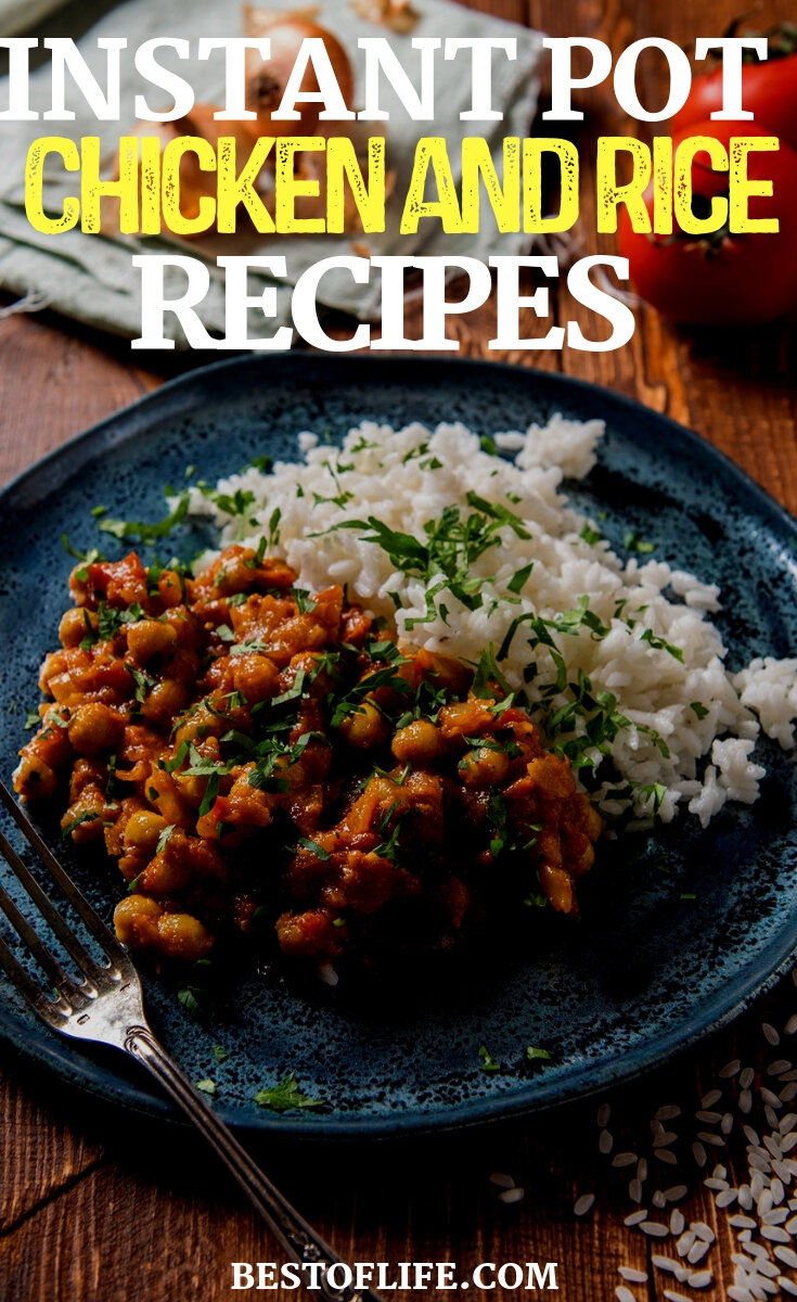Use easy instant Pot chicken and rice recipes to turn a boring chicken and rice dish into something truly amazing and filled with flavor. Instant Pot Dinner Recipes | Chicken Dinner Recipes | Rice Recipes | Chicken Recipes | Instant Pot Recipes #instantpot #recipes