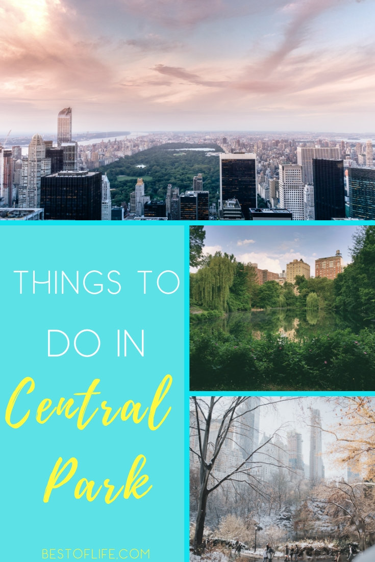 Make the most of your trip to New York City by filling your day with the best things to do in Central Park. Central Park Ideas | Central Park Events | New York City Travel Tips | Things to do in New York City | Central Park Travel #centralpark #travel via @thebestoflife