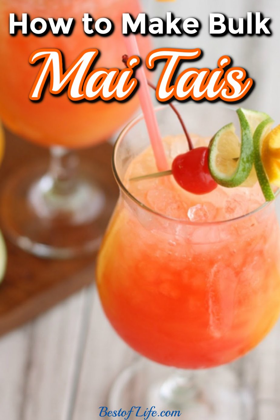 Bulk mai tai recipes can help liven up your party and make planning and hosting a party easier than ever. Serve these mai tai pitcher recipes for parties of any size for a flavorful cocktail guests will love! Party Recipes | Party Cocktail Recipes | Cocktail Pitcher Recipes | Cocktail Recipes | Party Drink Recipes #cocktails #recipe via @thebestoflife