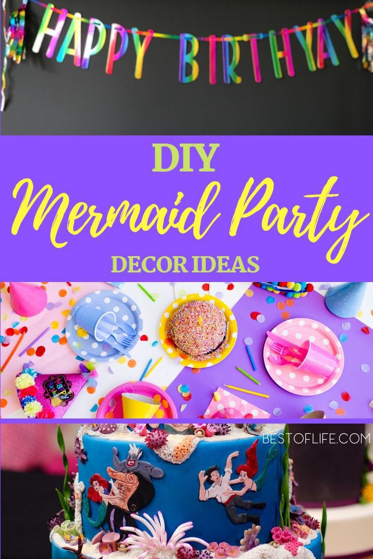 Host the best mermaid party you can by making DIY mermaid birthday party decorations that will add color and fun to the birthday festivities. DIY Party Decor | Mermaid Party Decor | DIY Birthday Party Decor | Birthday Party Ideas | Party Planning Ideas | Party Decor #mermaids #party