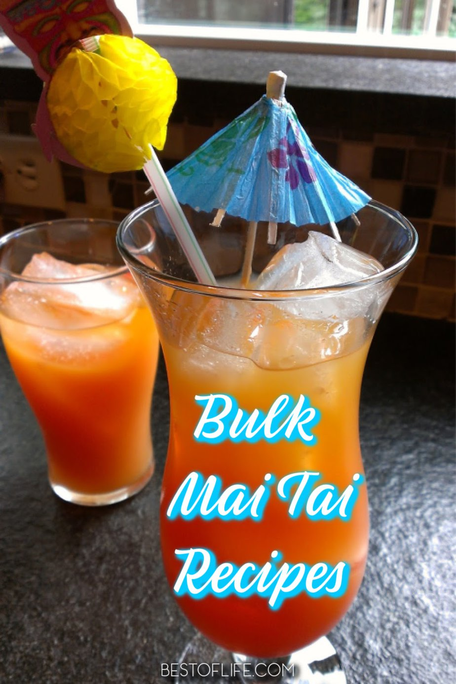 Bulk mai tai recipes can help liven up your party and make planning and hosting a party easier than ever. Serve these mai tai pitcher recipes for parties of any size for a flavorful cocktail guests will love! Party Recipes | Party Cocktail Recipes | Cocktail Pitcher Recipes | Cocktail Recipes | Party Drink Recipes #cocktails #recipe