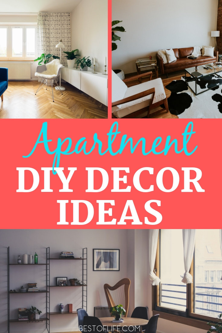 Use DIY Apartment decorating ideas to help inspire the more creative side of yourself and enjoy a beautiful living space at the same time. DIY Decor Ideas | DIY Crafts for Apartments | DIY Home Decor Ideas | Decorating Ideas | Home Decor Ideas #decor #DIY via @thebestoflife