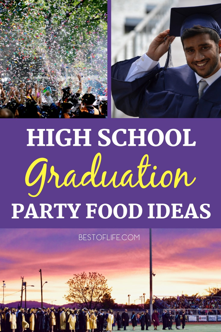 Celebrate graduation with some of the best high school graduation party foods that will impress everyone there and make the graduate feel special. Graduation Party Recipes | Recipes for a Graduation Party | Recipes for a Party | Party Recipes | Recipes for a Crowd #party #food