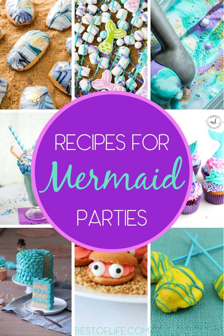 Get creative and show off your cooking skills with the best mermaid birthday party food ideas for a colorful celebration. Mermaid Party Recipes | Mermaid Party Cake Recipes | Mermaid Party Ideas | Tips for a Mermaid Party | Mermaid Birthday Party Ideas #mermaid #party via @thebestoflife