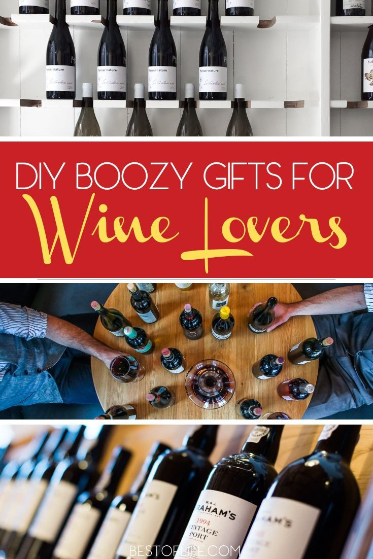 DIY boozy gifts for wine lovers are easy, fun, and affordable to make but they will also be well appreciated by the wine lover in your life. DIY Wine Bottle Crafts | DIY Cork Crafts | DIY Projects | DIY Home Decor | Wine Lover Gifts | #wine #DIY