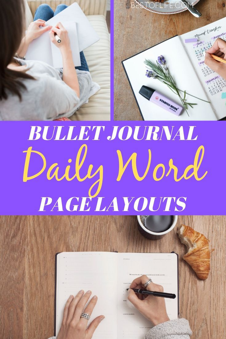 Bullet journal word of the day layouts allows you to motivate yourself every day when you open your journal for the first time. Bullet Journal Ideas | BuJo Ideas | Bullet Journal Layouts | Bullet Journal Inspirational Layouts | Word of The Day #bulletjournal #layouts via @thebestoflife