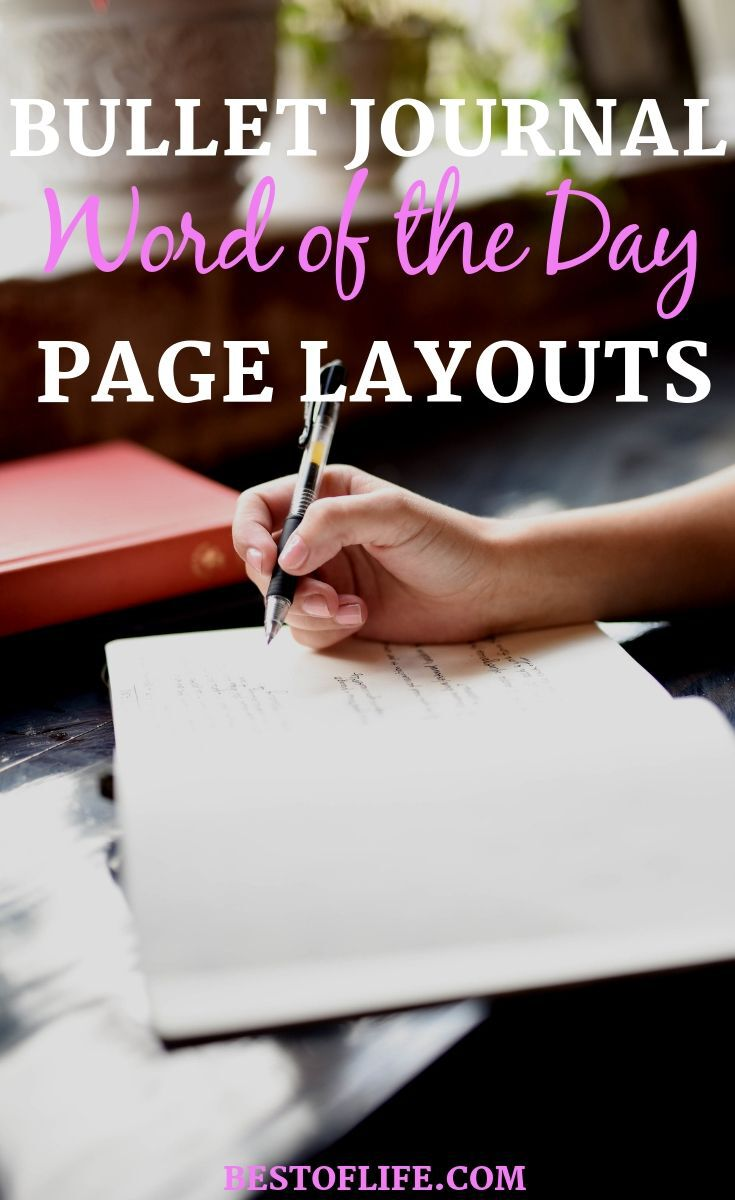Bullet journal word of the day layouts allows you to motivate yourself every day when you open your journal for the first time. Bullet Journal Ideas | BuJo Ideas | Bullet Journal Layouts | Bullet Journal Inspirational Layouts | Word of The Day #bulletjournal #layouts