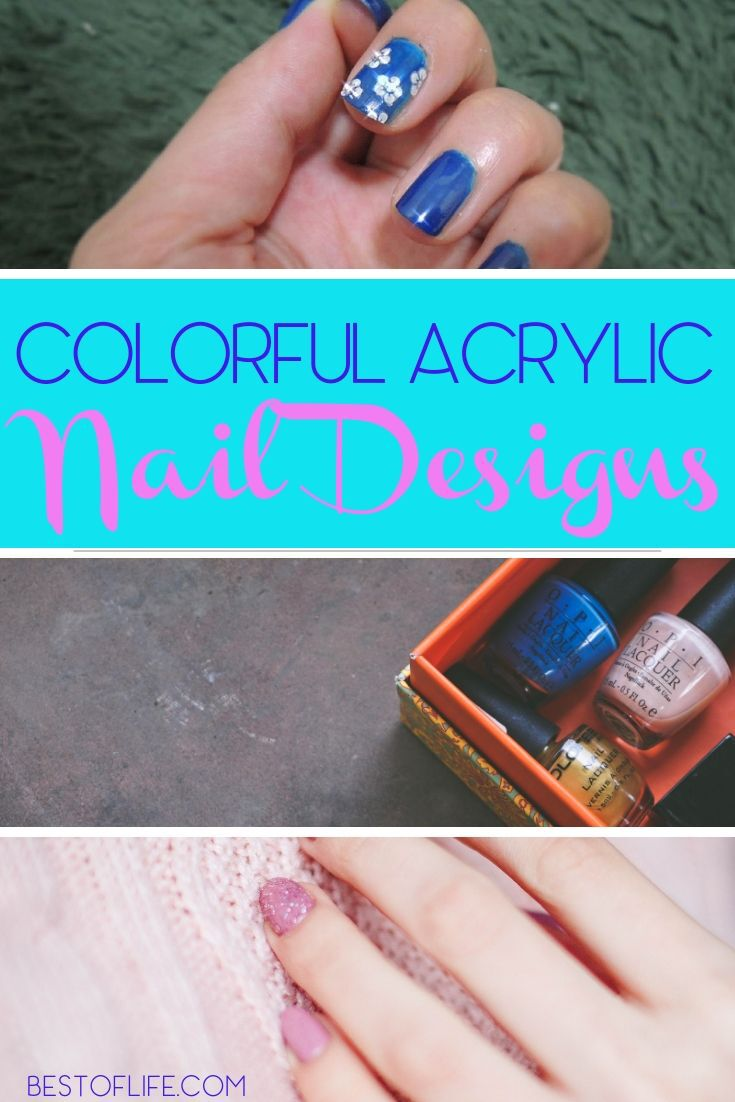 Use some colorful acrylic nail designs that work all year long to enhance your overall look in a fun, fancy, and beautiful way. Acrylic Nail Designs | DIY Acrylic Nail Art | Acrylic Nail Ideas | Colorful Nail Art | Nail Art Tutorials #nailart #diy