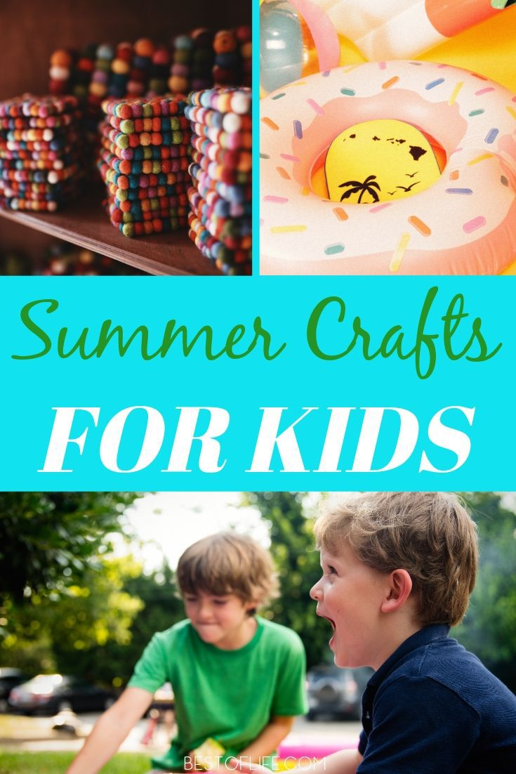Use amazingly easy summer crafts for kids this year to fill their time with fun and creativity during those long summer days!. Fun Summer Crafts | Summer Activities for Kids | Things to do During Summer | DIY Craft Ideas | DIY Ideas for Kids #diy #summer via @thebestoflife