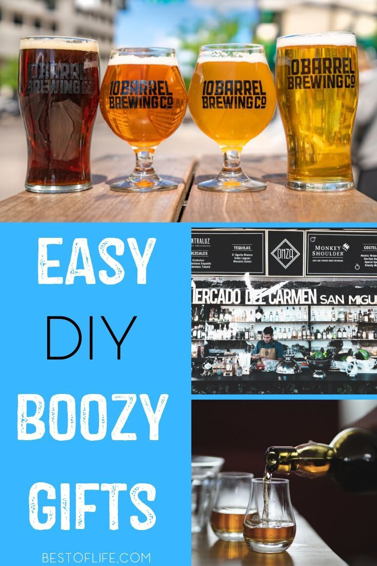 DIY boozy gifts are good for almost any occasion and they allow you to get crafty while having fun at as you make it and enjoy it. DIY Gifts | DIY Crafts for Adults | Boozy Gift Ideas | Wine Gifts | Gift Basket Ideas for Adults #DIY