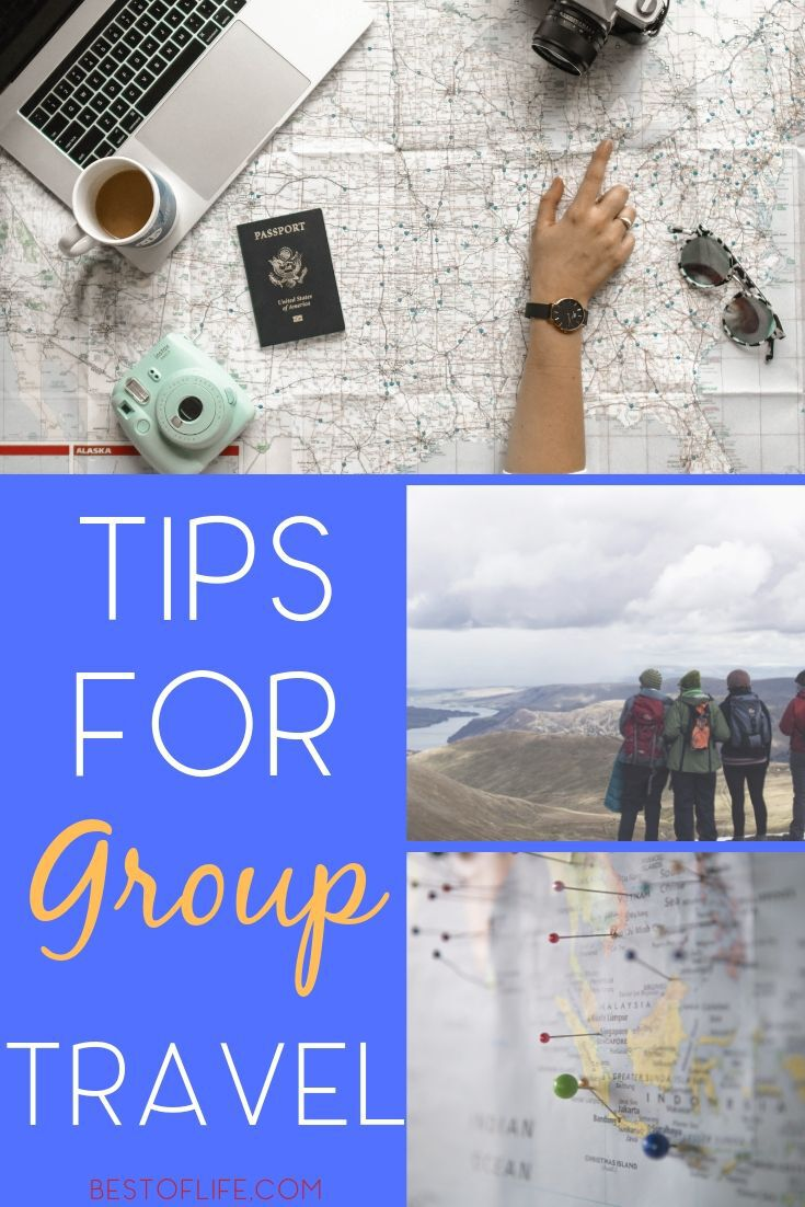 Before you head out for a group trip you may want to utilize some of the best group travel tips for both small and large groups. Family Travel Tip | Large Group Travel Tips | Small Group Travel Tips | Travel Ideas | Tips for Travelling #travel #tips via @thebestoflife