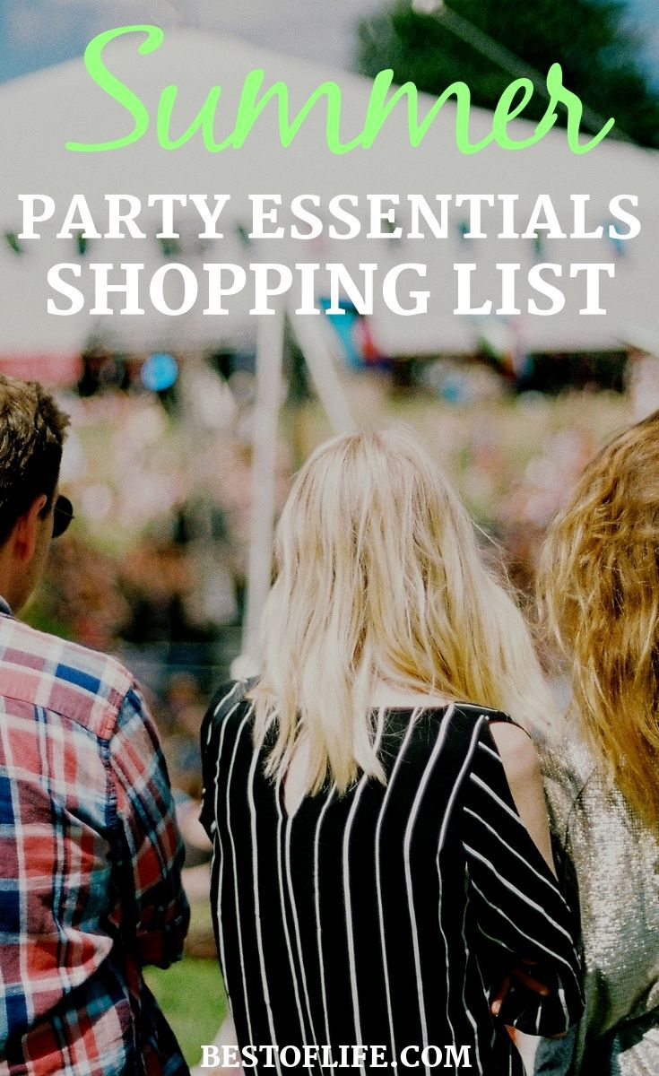 The best summer party essentials shopping list will help you host the best summer party your friends and family are sure to enjoy! Summer Party Ideas | Party Planning | Party Tips | Summer BBQ Ideas | How to Throw a Party | Summer Activities #summer #party