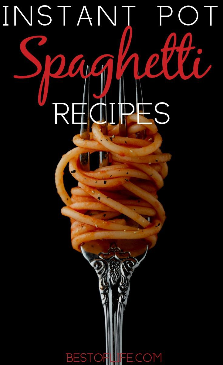 Use Instant Pot spaghetti recipes to help you save a bit of time in the kitchen and prepare a delicious meal everyone will enjoy! Instant Pot Recipes | Spaghetti Recipes | Easy Instant Pot Dinner Recipes | Spaghetti and Meat Balls Recipes | Spaghetti Recipes Without Meat #instantpot #recipes