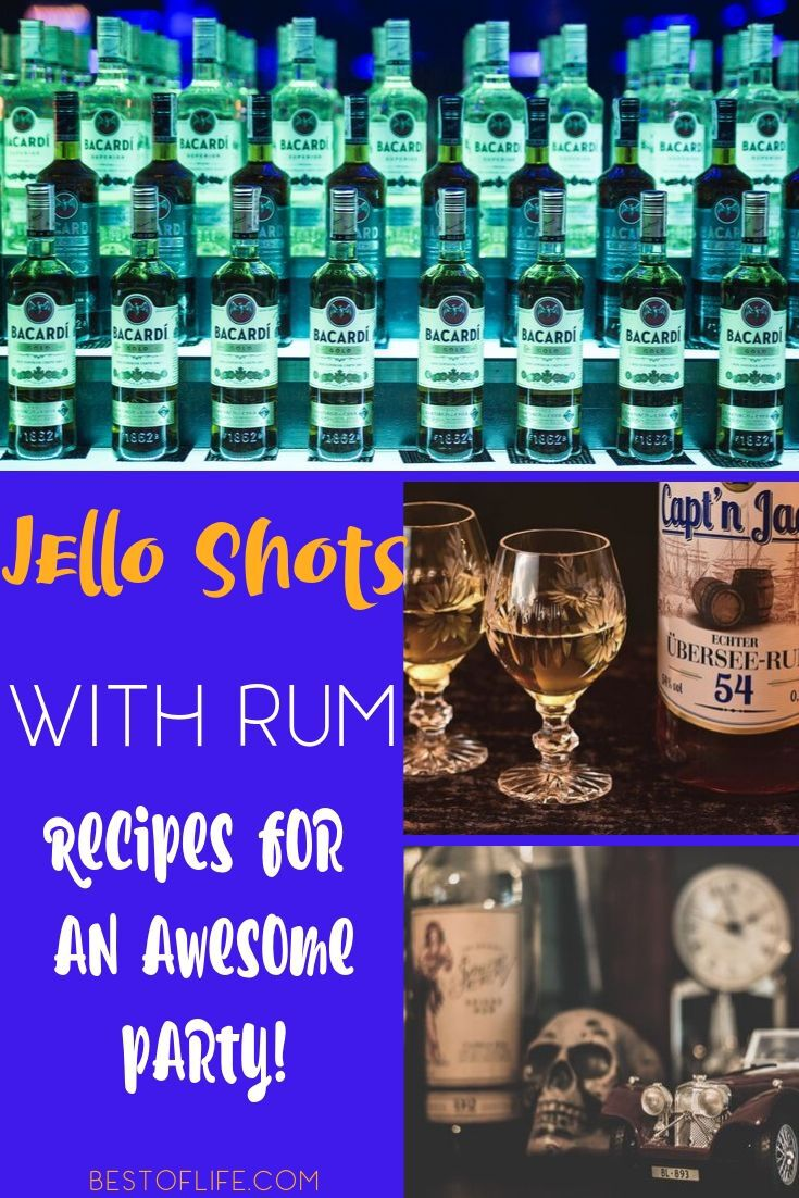 Jello shots don't have to be made with vodka and the best jello shots with rum recipes prove that with every shot you take. Rum Shots Recipes | Cocktail with Rum | Recipes with Rum | Party Recipes | Recipes for Adults | Happy Hour Recipes | Recipes for a Party #rum #recipes via @thebestoflife