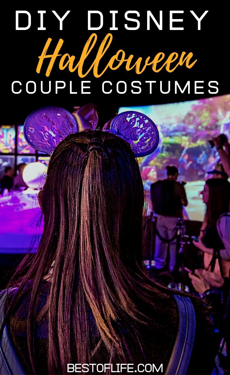 Your options are vast if you decide to make some DIY couple Halloween costume ideas for Disney fans. Show off your Disney side on Main Street or at home! DIY Costumes | DIY Costumes for Couples | Couple Costumes | Disney Couple Costumes | Disney Halloween Ideas | Halloween Costumes for Adults #Halloween #DIY