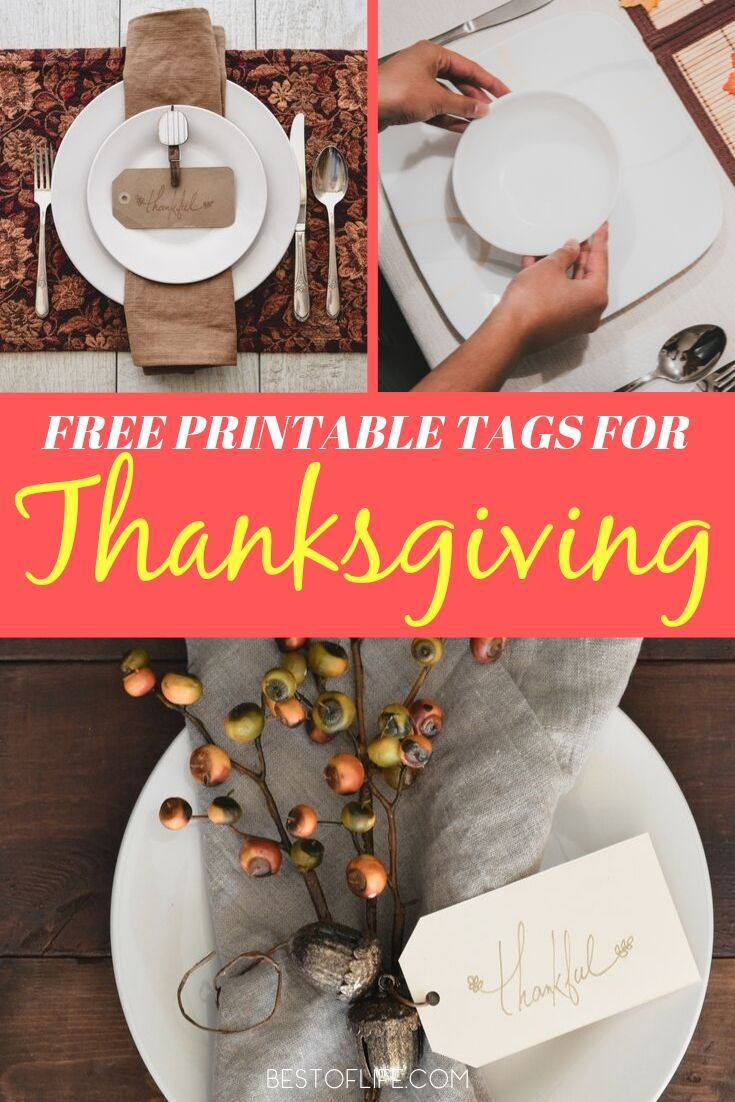 The best free Thanksgiving printable tags are perfect for host gifts, party favors, and other holiday party ideas for your festive gathering. Holiday Printable Tags | Printable Tags for Holidays | Holiday Printable Ideas | Thanksgiving DIY Ideas | DIY Holiday Ideas | Thanksgiving Ideas #thanksgiving #printables via @thebestoflife