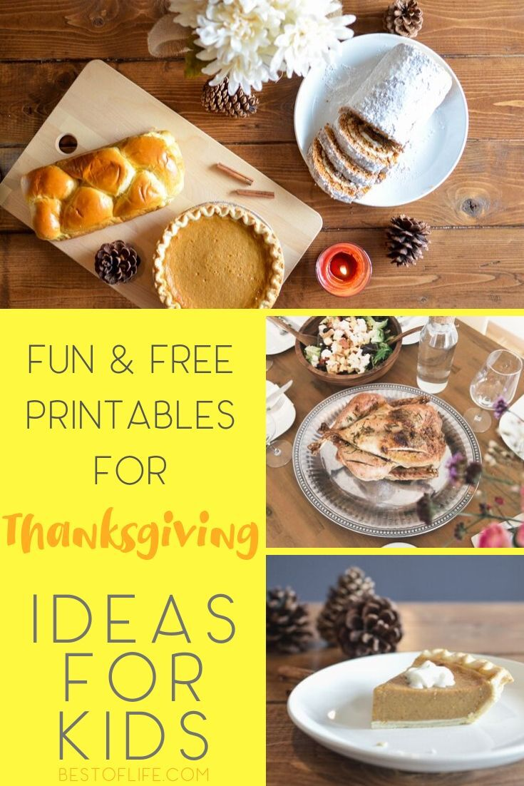 Take advantage of the internet to help entertain the kids with fun Thanksgiving printable games for kids. Free Printables for Kids | Free Holiday Printables | Printable Bingo for Holidays | Free Activities for Kids #printables #thanksgiving via @thebestoflife