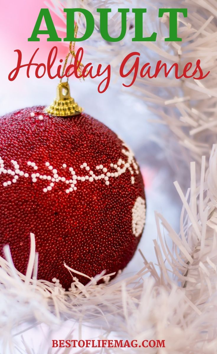Put the kids to bed early or just don't invite them to play these amazingly fun adult holiday games during your next holiday party. Christmas Party Ideas | Christmas Party Games | Holiday Party Activities | Adult Holiday Party Ideas | Holiday Ideas for Adults | Party Ideas #holidays #games
