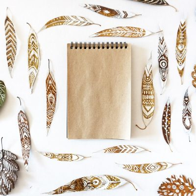 Bullet Journal Fall Leaves Ideas and Doodles