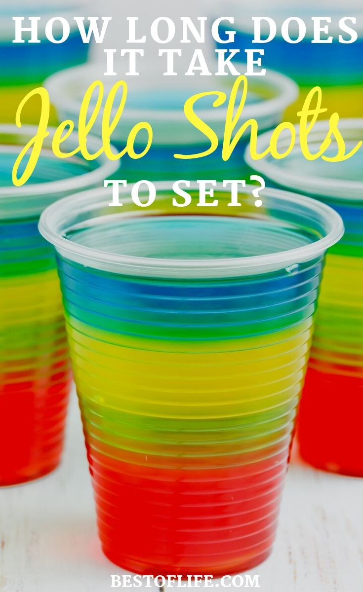 How long does it take jello shots to set? It's important to know the answer to this question when making jello shots for your next party! Tips for Jello Shots | Party Planning Tips | Happy Hour Recipes | Jello with Alcohol Tips | Cocktail Recipes | Party Recipes #cocktails #recipes