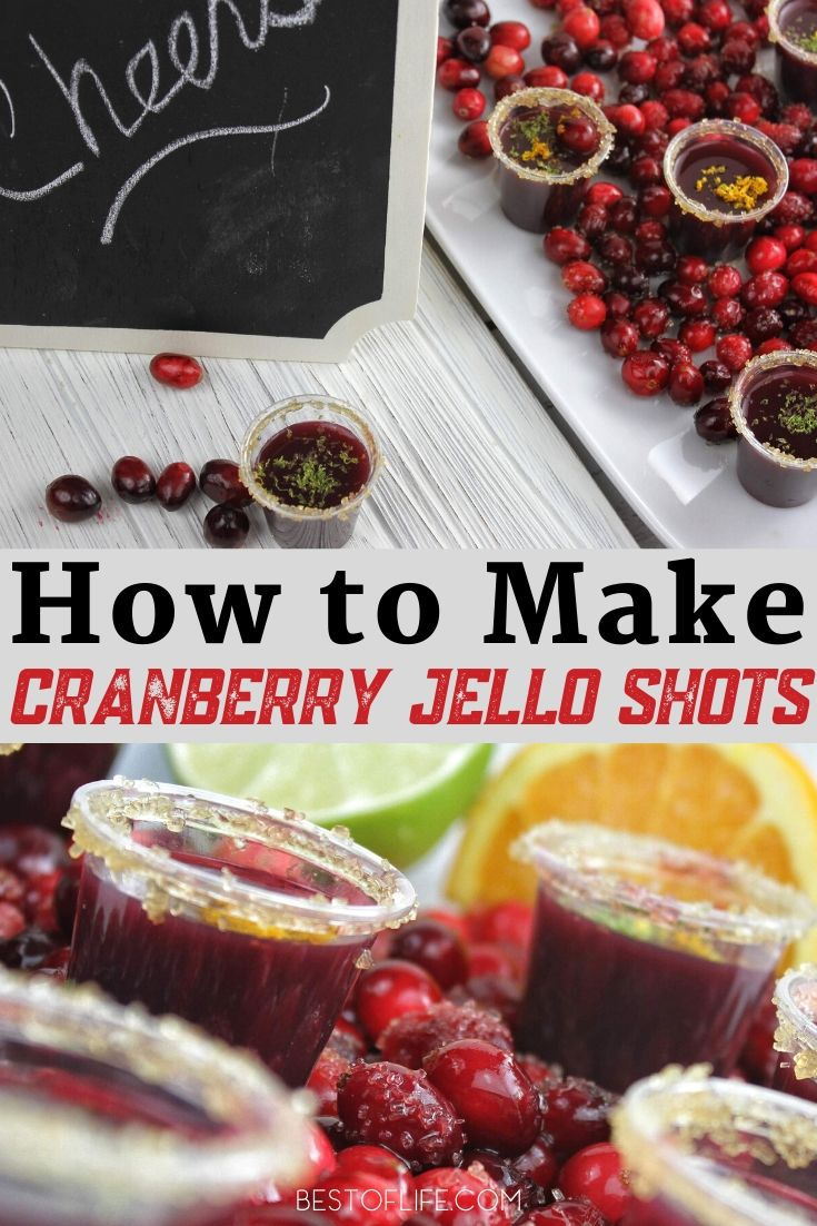 These cranberry jello shots are tart, sweet and will even make your uncle's jokes seem that much funnier at the holiday table. It's a win/win for everyone. Christmas Party Recipes | Recipes for Adults | Holiday Cocktail Recipes | Party Recipes | Seasonal Jello Shots | Jello Shots for Christmas #holidays #recipe via @thebestoflife